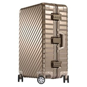 OCCA-L'armaturaスーツケース 高級アルミボディ キャリーケース キャリーバッグ キャリーバック 旅行かばん 小型 約35L ゴールド Larmatura-S-Gold-a