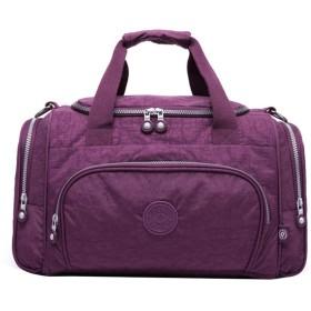 ナイロンショルダーバッグ大容量トラベルバッグ多機能軽量デイパック (Color : Purple, Size : 372326cm)