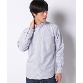 (koe/コエ)レギュラーオーガニックオックス釦ダウンシャツ/メンズ ストライプブルー