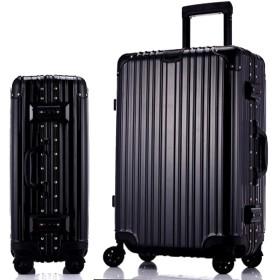 トロリーケース、万能ホイールスーツケース、学生用トラベルバッグ、パスワードボックス、軽量スーツケース-black-L