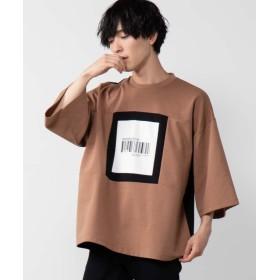 【23%OFF】 ウィゴー WEGO/ポンチ切替ビッグTシャツ ユニセックス ベージュ M 【WEGO】 【セール開催中】