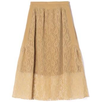 LOKITHO / レースフレアスカート キャメル/1(エストネーション)◆レディース スカート