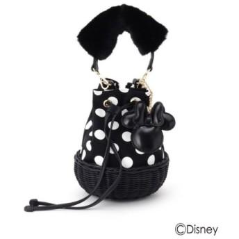 (Couture Brooch/クチュールブローチ)ミニーマウス/フェイクファーハンドル巾着バッグ/レディース ブラック(719) 送料無料