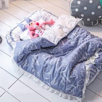 ベッドインベッド 枕付き ベビーベッド レース付き 布団セット 新生児用寝具 ベッドガード コンパクトベッド 添い寝 ポータブル 赤ち