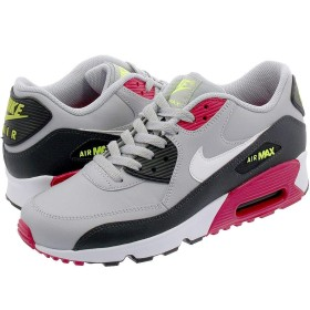 [ナイキ] AIR MAX 90 LTR GS WOLF GREY/RUSH PINK/VOLT 23.5cm