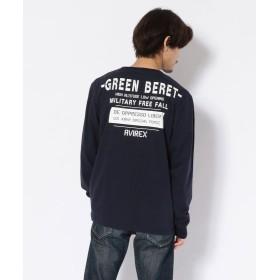 アヴィレックス クルーネックTシャツ グリーンベレー ハロ/T SHIRT GREEN BERET HALO メンズ NAVY L 【AVIREX】