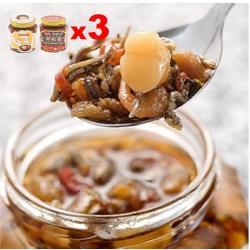 胡媽媽灶腳 干貝鮮蝦醬雙享組-3組 (干貝醬250g*3+鮮蝦醬250gx3)