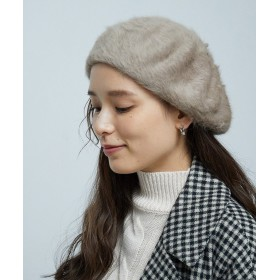 【40%OFF】 ロペピクニック シャギーベレー帽 レディース ベージュ系(29) F 【ROPE' PICNIC】 【セール開催中】