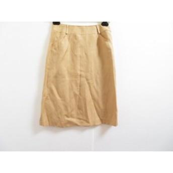 タルボット Talbots スカート サイズ0 XS レディース 美品 ライトブラウン【中古】