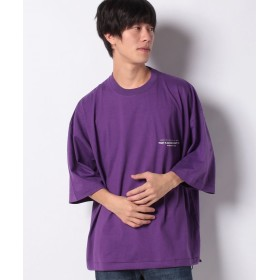【61%OFF】 ウィゴー WEGO/スーパービッグ5分袖Tシャツ メンズ パープル L 【WEGO】 【セール開催中】