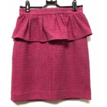 アプワイザーリッシェ Apuweiser-riche スカート サイズ0 XS レディース 美品 ピンク ツイード【中古】