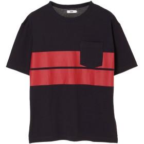 【5,000円以上お買物で送料無料】MENS OrganicアムンゼンプリントボーダーTシャツ