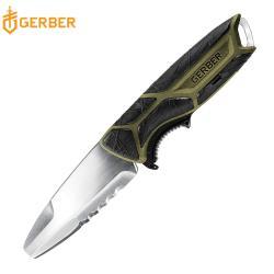 Gerber CrossRiver 半齒半刃防滑水陸兩用直刀 30-001454