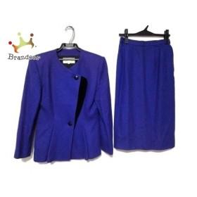 ラピーヌブランシュ lapine blanche スカートスーツ サイズ11 M レディース パープル 肩パッド 新着 20190825