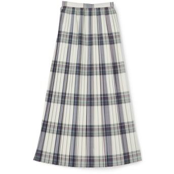 AURALEE / チェックプリーツロングスカート シルバーグレー/0(エストネーション)◆レディース スカート