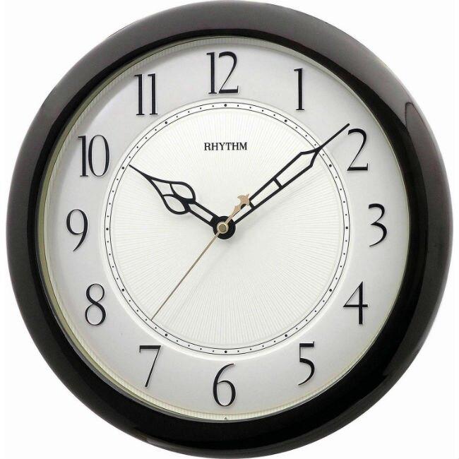 RHYTHM 麗聲鐘(CMG987) 立體數字圓形烤漆掛鐘/35cm