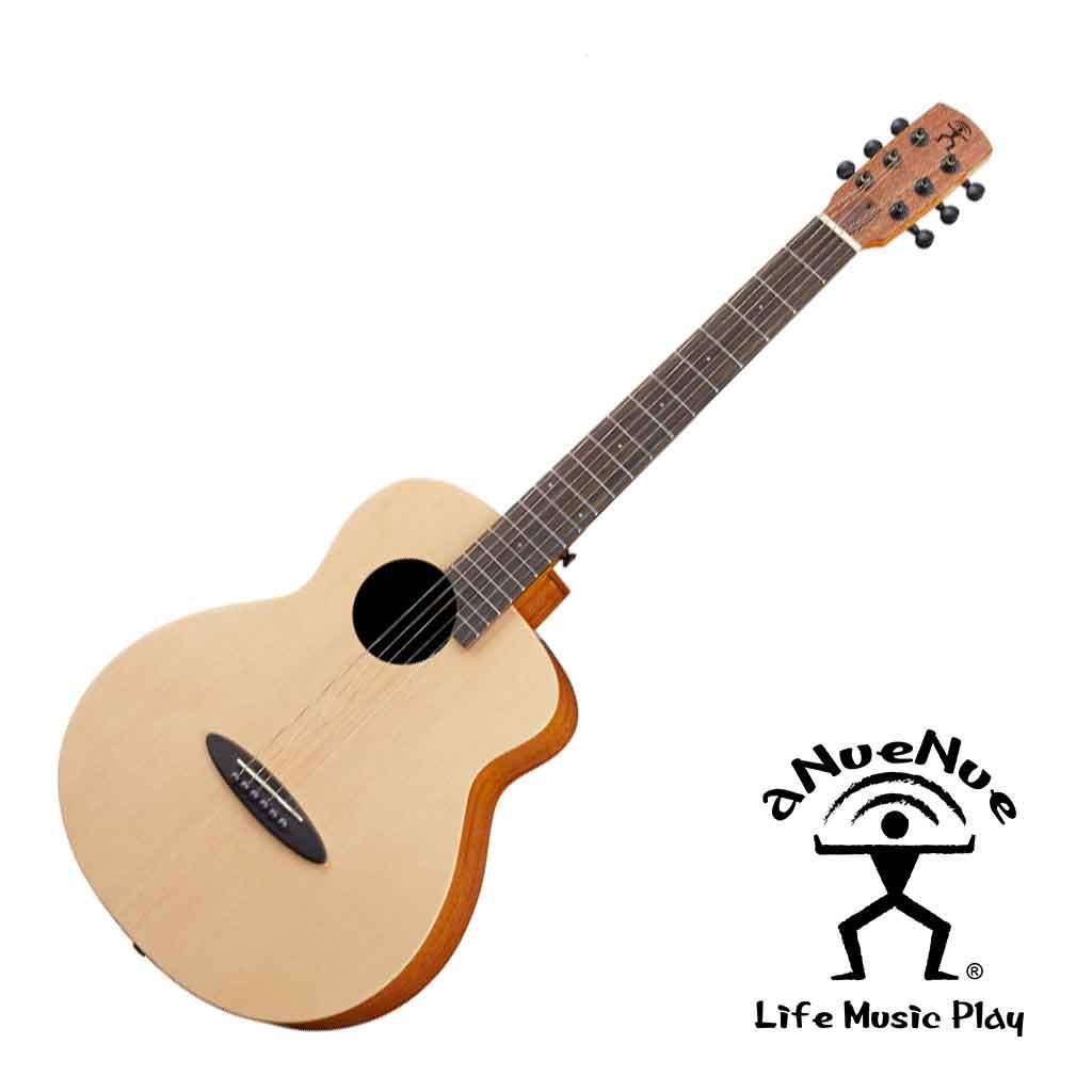 aNueNue MY10鳥吉他 雲杉木單板 (開放啞光漆) 旅行吉他 附原廠袋 小吉他 -【黃石樂器】