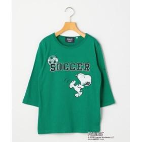 (SHIPS KIDS/シップス キッズ)SHIPS KIDS:スヌーピー 7分袖 TEE(145-160cm)/レディース グリーン