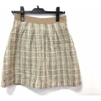 アプワイザーリッシェ Apuweiser-riche スカート サイズ2 M レディース ベージュ ツイード【中古】