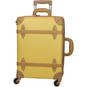 MOIERG(モアエルグ)軽量 キャリーバッグ YKK使用 キャリーケース スーツケース 【81-55082-71】(S, マスタード) 修学旅行