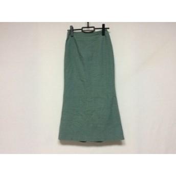 ホコモモラ JOCOMOMOLA ロングスカート サイズ40 XL レディース 美品 ライトグリーン×ダークグリーン チェック柄【中古】