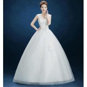 激安 韓国ファッション 花嫁ウエディングドレス 二次会 白 ホワイト ステージドレス結婚式 卒業式 ロングドレス 着痩せ 撮影