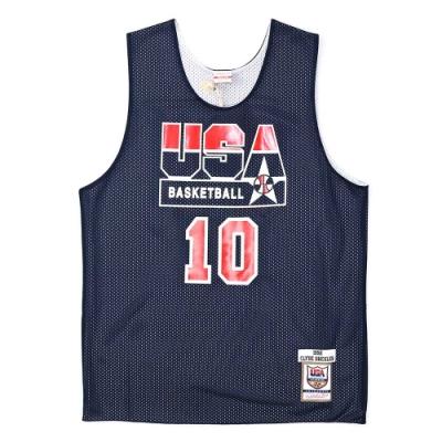 M&N Authentic球員版練習賽雙面球衣 92 Dream Team #10