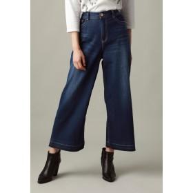 EVEX by KRIZIA 【ウォッシャブル】ホイップデニムワイドパンツ(evex jeans) その他 デニム,ネイビー