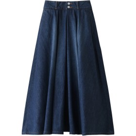 SALE 【30%OFF】 HELIOPOLE エリオポール 【woadblue】VERBENA Aライン インタック スカート ブルー
