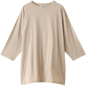 Whim Gazette ウィム ガゼット スーピマリネンドライ天竺Tシャツ ライトベージュ