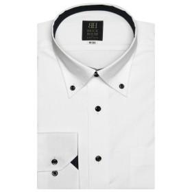 [マルイ] 形態安定 ノーアイロン 長袖ワイシャツ ドゥエボットーニ ボタンダウン 白×ドット織柄 標準体/ブリックハウス(BRICKHOUSE)
