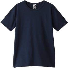 PLAIN PEOPLE プレインピープル 【plainless】コットン天竺プリントTシャツ ネイビー