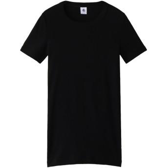 PETIT BATEAU プチバトー クルーネック半袖Tシャツ ブラック