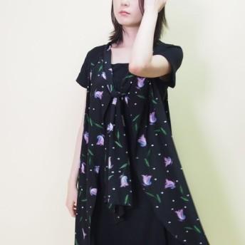 【送料無料再販】シルク100+ストレッチ素材Aラインワンピース19018