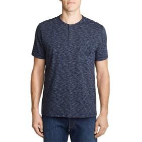 [エディー・バウアー] Eddie Bauer 半袖レジェンドウォッシュスペースダイヘンリーネックTシャツ 半袖Tシャツ メンズ (ミッドナイトヘザー XL)