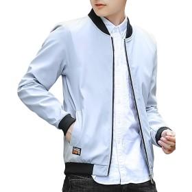 XALERブルゾン メンズ MA-1 ジャンパー カジュアル フライト ジャケット ポケット アウター 大きいサイズ 長袖 春秋冬