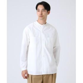 (DRESSTERIOR/ドレステリア)無地タイプライターバンドカラーシャツ/メンズ ホワイト(001)