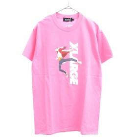 XLARGE(エクストララージ)×SUMMER WARS サマーウォーズコラボ KING KAZUMA キングカズマ半袖Tシャツ ピンク