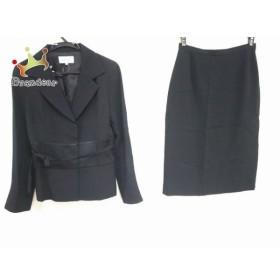 ハナエモリ HANAE MORI スカートスーツ サイズ38 M レディース 黒 新着 20190826【人気】