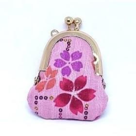 櫻♪がま口小物ポーチ、ミニバッグ、アクセサリーケース・小物入れ・花・桜