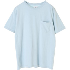 【6,000円(税込)以上のお買物で全国送料無料。】MENS度詰め天竺 クルーネックポケットTシャツ