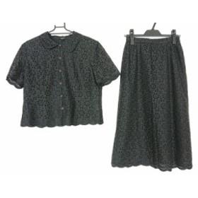レリアン Leilian スカートセットアップ サイズ9 M レディース 新品同様 黒【中古】20190823