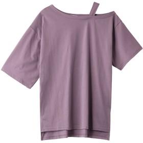 ROSE BUD ローズバッド ワンショルダービッグTシャツ パープル