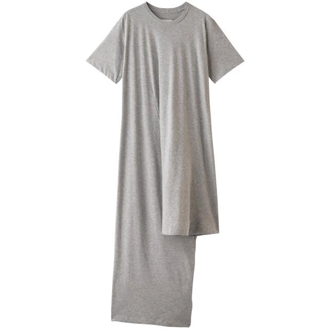 MM6 Maison Margiela エムエム6 メゾン マルジェラ Tシャツドレス グレーメランジ