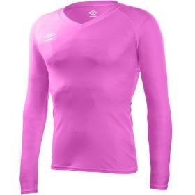 UMBRO(アンブロ) L/Sパワーインナー Vネックシャツ UAS9701L SPNK Sピンク M