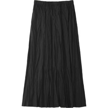 SALE 【50%OFF】 mizuiro ind ミズイロインド ワッシャーロングスカート ブラック
