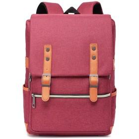 新しいバックパックコンピュータバックパックショルダーバッグカレッジ風ユニセックス高校生バッグ潮トラベルバッグ、レッド
