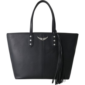 ZADIG & VOLTAIRE ザディグ エ ヴォルテール MICK GRAINED LEATHER バック ブラック