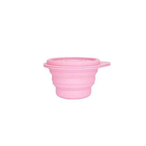 Lexnfant - 含蓋摺疊碗-小-粉色-250ml