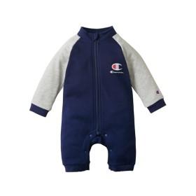 Champion(チャンピオン)スタジャン風長袖カバーオール(男の子 子供服。ベビー服) 【ベビー服】